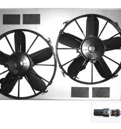 dewitts radiator electric fan upgrade kits 32 sp015 free shipping on orders over 99 at summit racing [ 1600 x 1124 Pixel ]