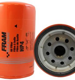 fram hp series oil filters hp4 free shipping on orders over 99 at summit racing [ 1500 x 1186 Pixel ]