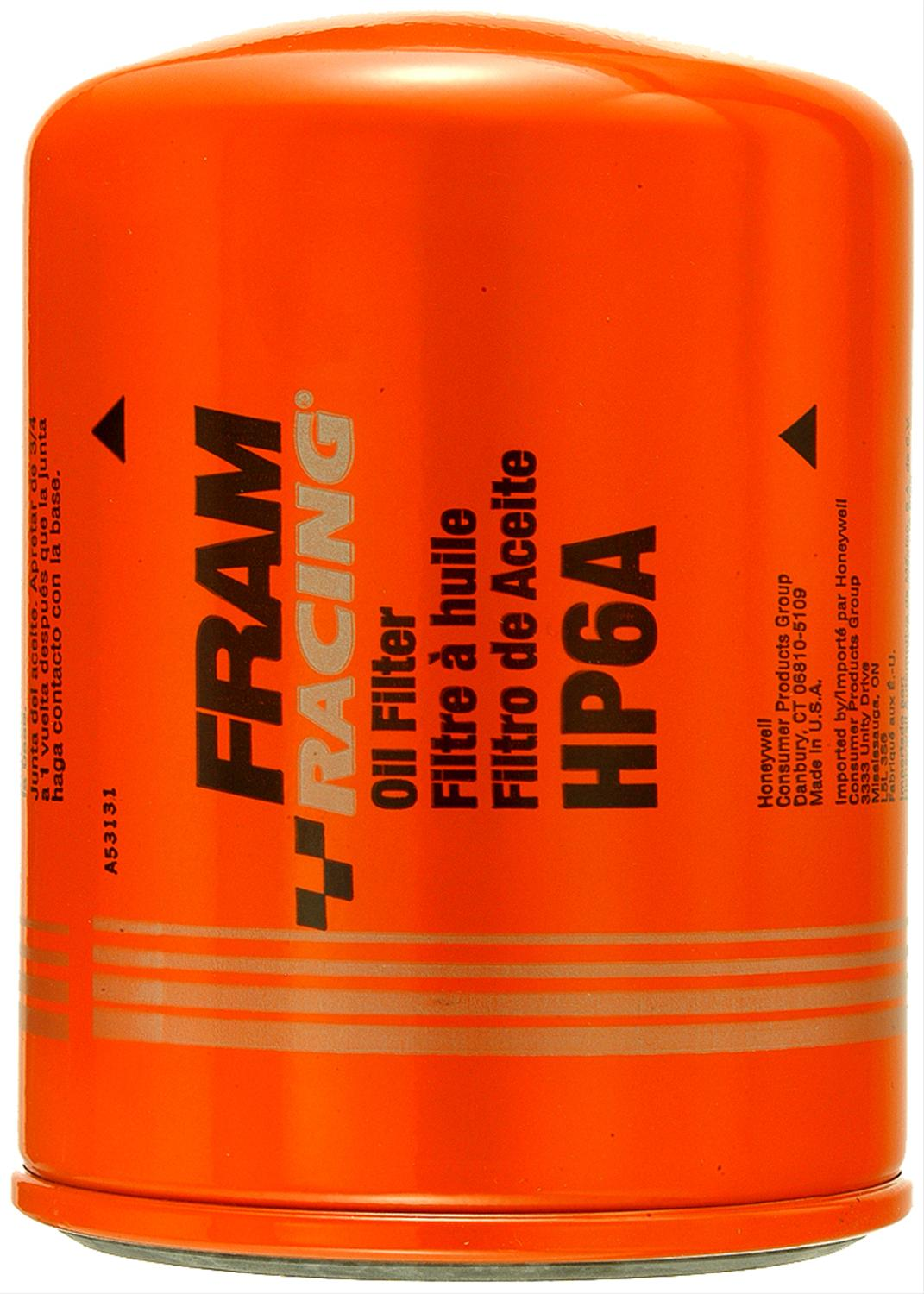 hight resolution of fram hp series oil filters hp6a free shipping on orders over 99 at summit racing