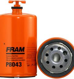 fram fuel filters p8043 free shipping on orders over 99 oil filter fram top fuel racing [ 1500 x 1459 Pixel ]
