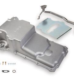 holley gm ls retrofit engine oil pans 302 2 free shipping on orders over 99 at summit racing [ 1600 x 1214 Pixel ]