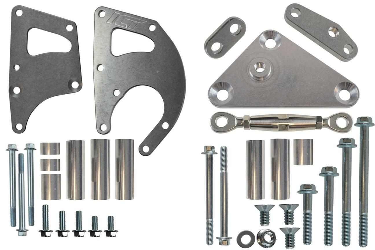 hight resolution of ict billet alternator power steering bracket kits 551396 3 free shipping on orders over 99 at summit racing