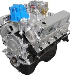 blueprint engines ford 331 stroker 375 hp value power carbureted long block crate engines bp3315ctc free shipping on orders over 99 at summit racing [ 1300 x 1347 Pixel ]