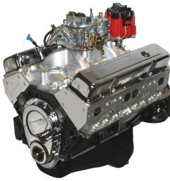blueprint engines gm 383 c i d 430 hp stroker base dressed long blocks w aluminum heads bp38313ctc1 free shipping on orders over 99 at summit racing [ 1568 x 1600 Pixel ]