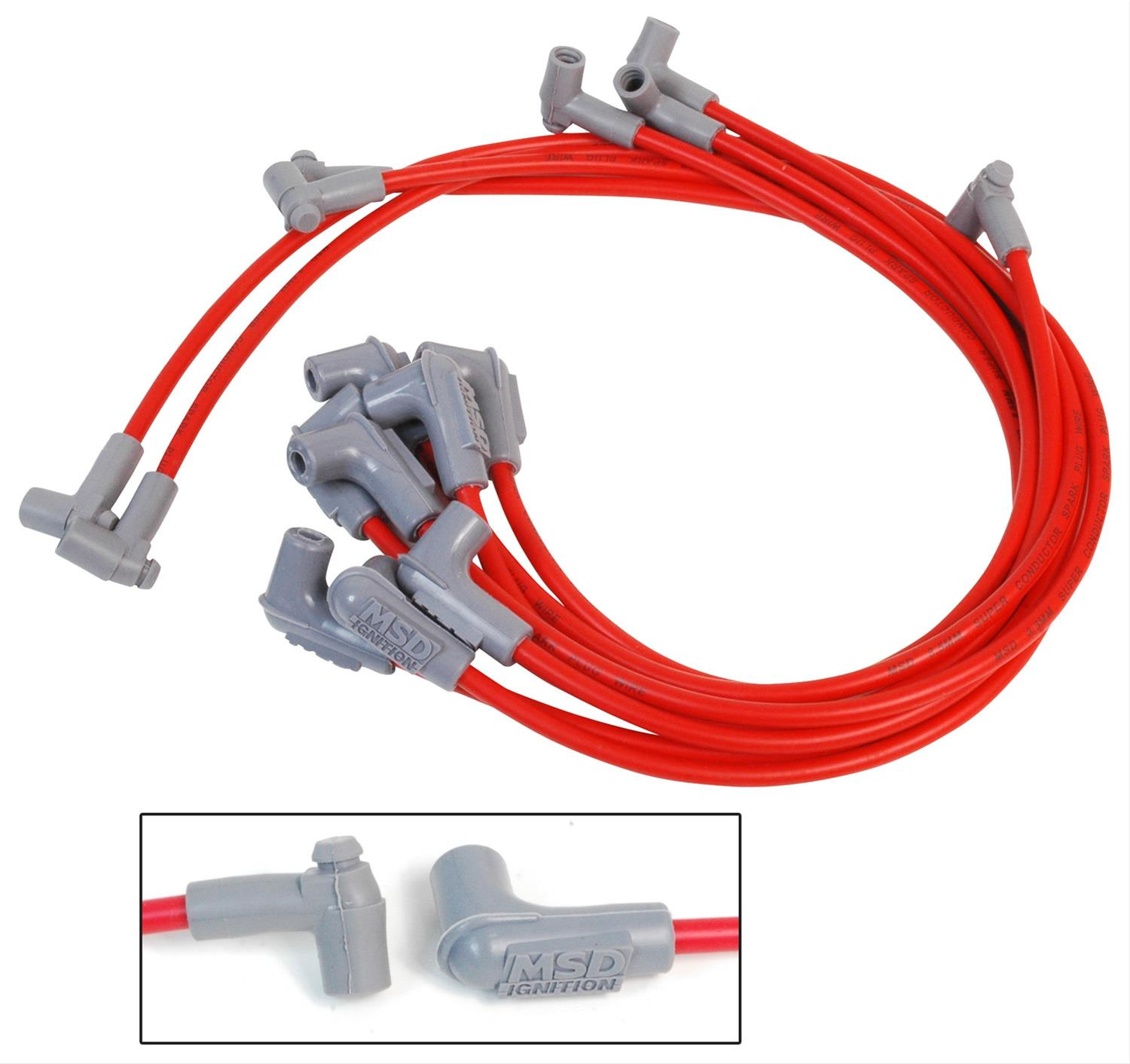 hight resolution of msd 8 5mm super conductor spark plug wire sets 31359 free shipping on orders over 99 at summit racing