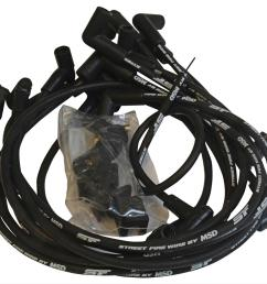 msd street fire spark plug wire sets 5554 free shipping on orders over 99 at summit racing [ 1500 x 1292 Pixel ]