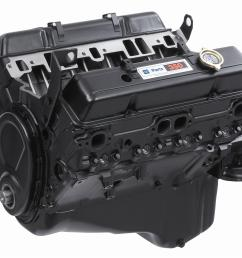chevrolet performance 350 c i d base engine assemblies 10067353 free shipping on orders over 99 at summit racing [ 1600 x 1278 Pixel ]