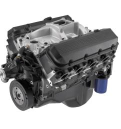 chevrolet performance 454 c i d ho 438 hp long block crate engines 12568774 free shipping on orders over 99 at summit racing [ 1600 x 1063 Pixel ]