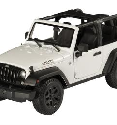 1 18 scale jeep wrangler willys wheeler edition diecast model 31610 white free shipping on orders over 99 at summit racing [ 1200 x 828 Pixel ]