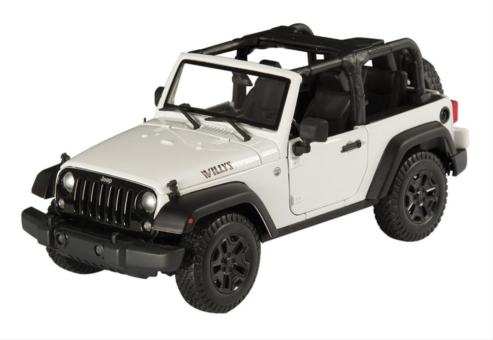 medium resolution of 1 18 scale jeep wrangler willys wheeler edition diecast model 31610 white free shipping on orders over 99 at summit racing