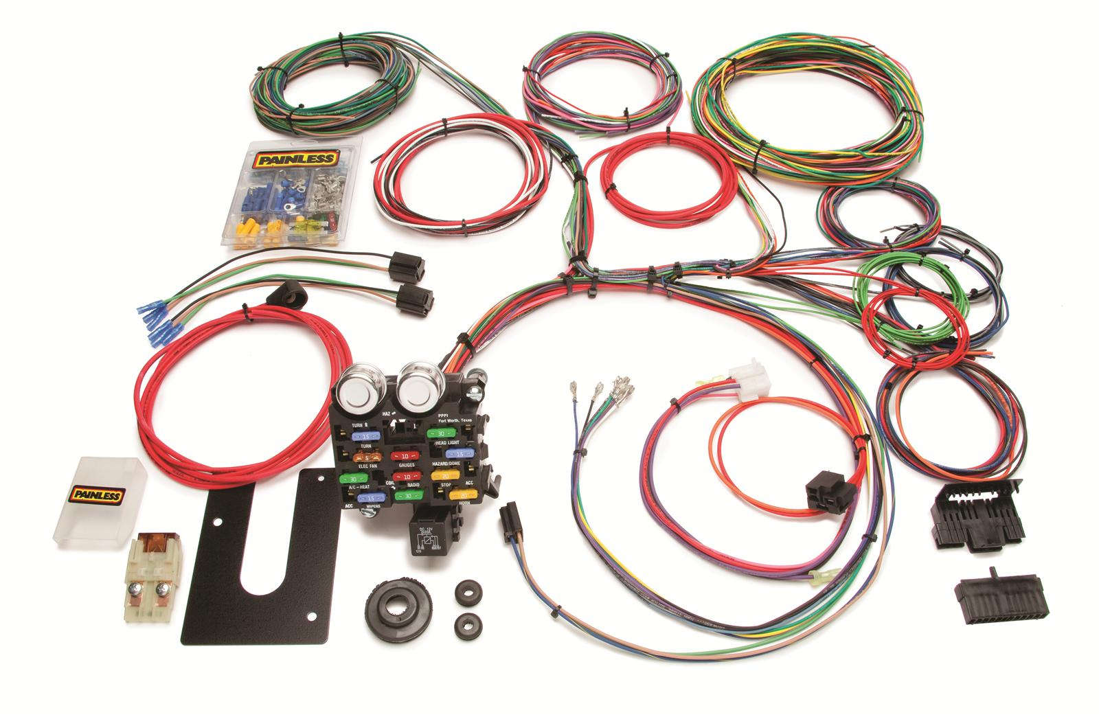 hight resolution of painless performance 21 circuit universal harnesses 10101 free shipping on orders over 99 at summit racing