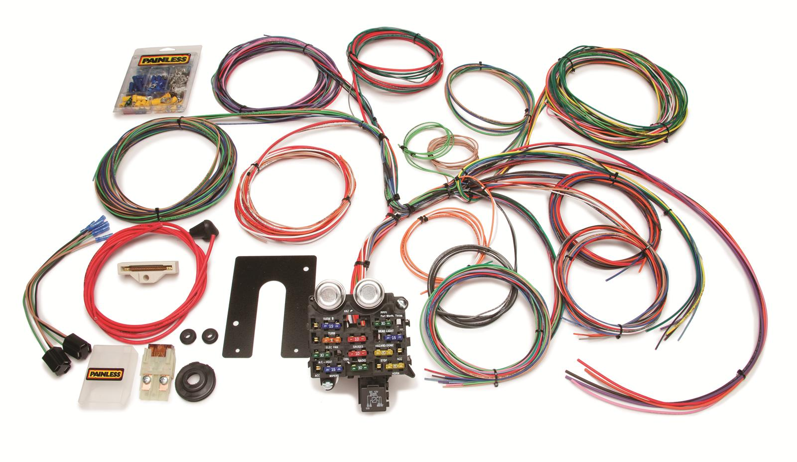 Painless Performance 22 Circuit Jeep CJ Harnesses 10105 Free