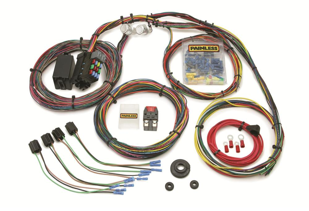 medium resolution of painless performance 21 circuit mopar color coded universal wiring universal wiring harness wire