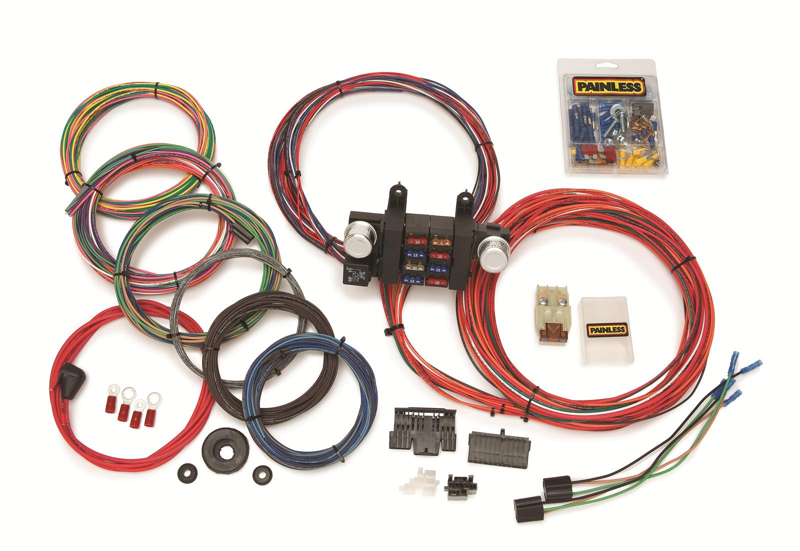 hight resolution of painless performance 18 circuit modular chassis harnesses 10307 18 circuit painless wiring harness