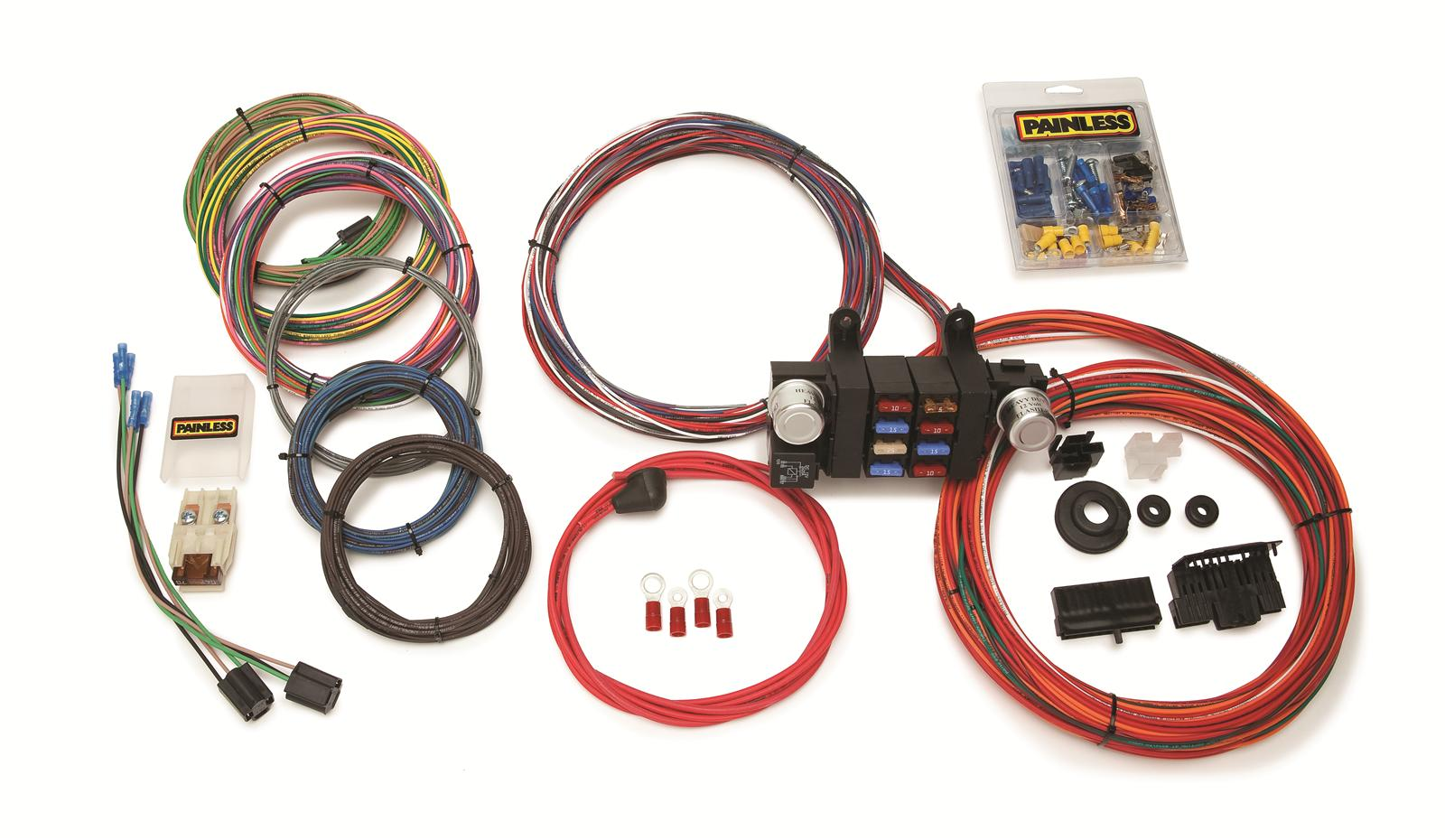 painless wiring harness diagram 1997 buick lesabre fuse performance 18 circuit modular chassis harnesses