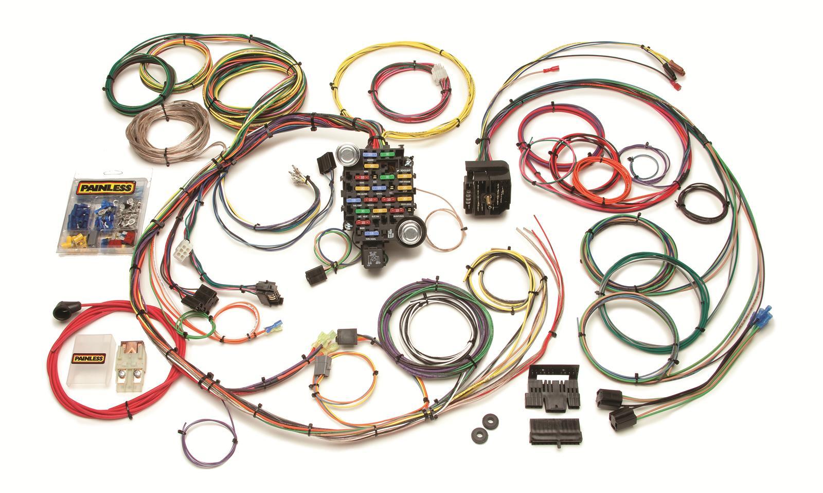 painless wiring diagram lt1 4 round trailer plug performance 24 circuit 1967 68 camaro and