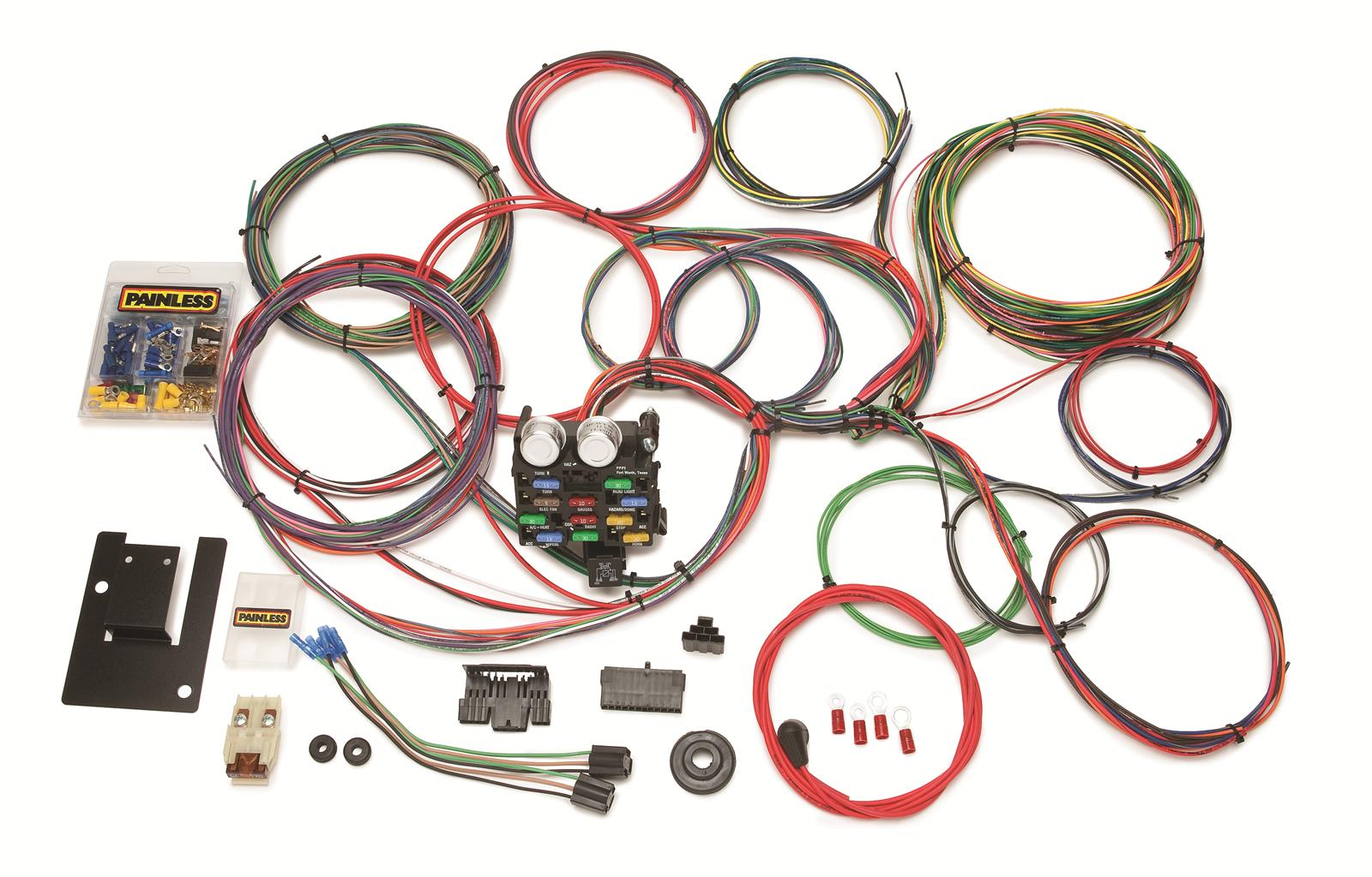 hight resolution of painless performance 21 circuit 1955 57 tri five chevy harnesses 20107 free shipping on orders over 99 at summit racing