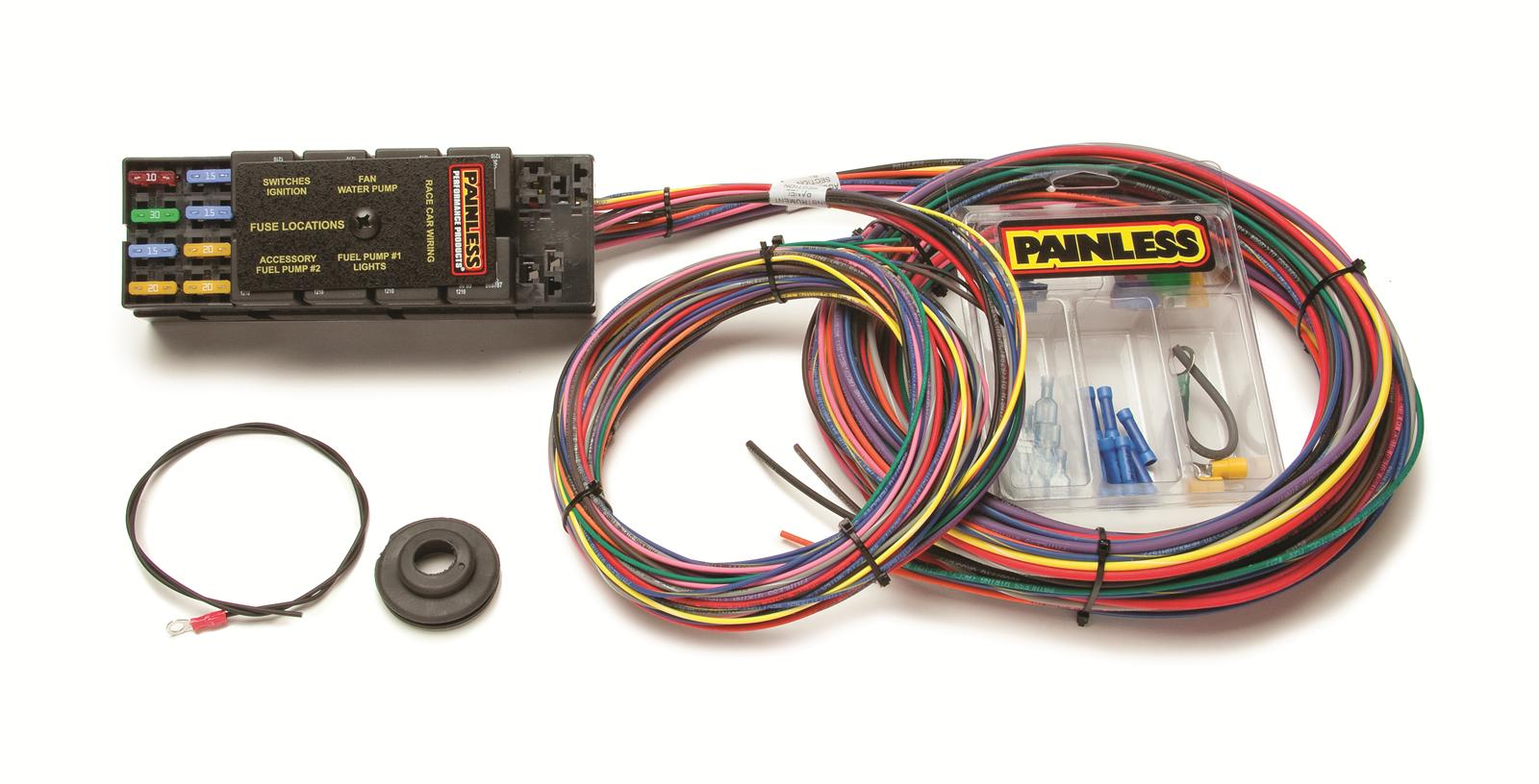 hight resolution of painless performance 10 circuit race only harnesses 50001 free painless wiring harness kit painless performance 10
