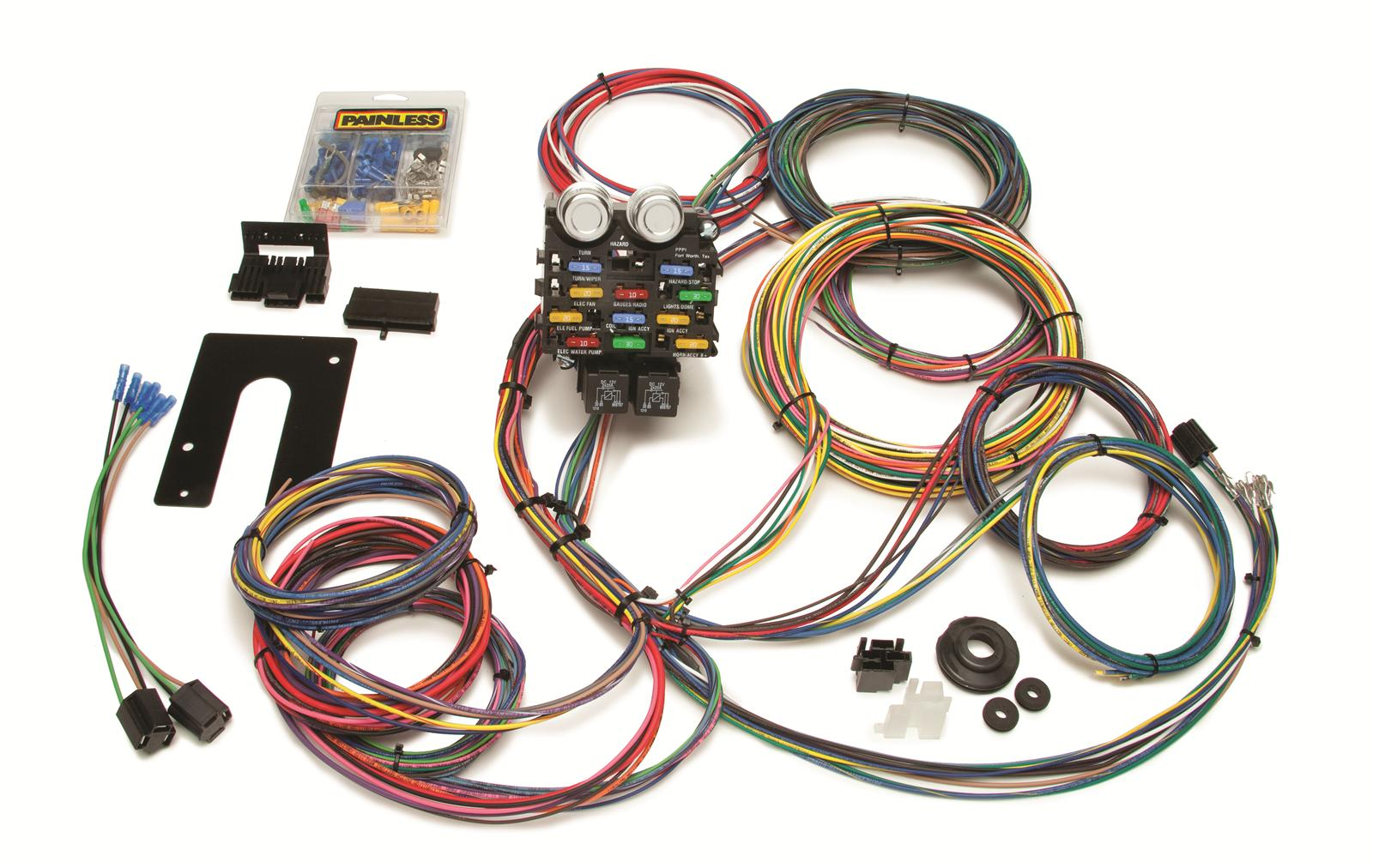 hight resolution of painless performance 21 circuit pro street chassis harnesses 50002 free shipping on orders over 99 at summit racing