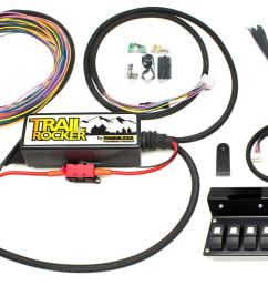 painless performance trail rocker jeep jk accessory control systems 57004 free shipping on orders over 99 at summit racing [ 1600 x 992 Pixel ]