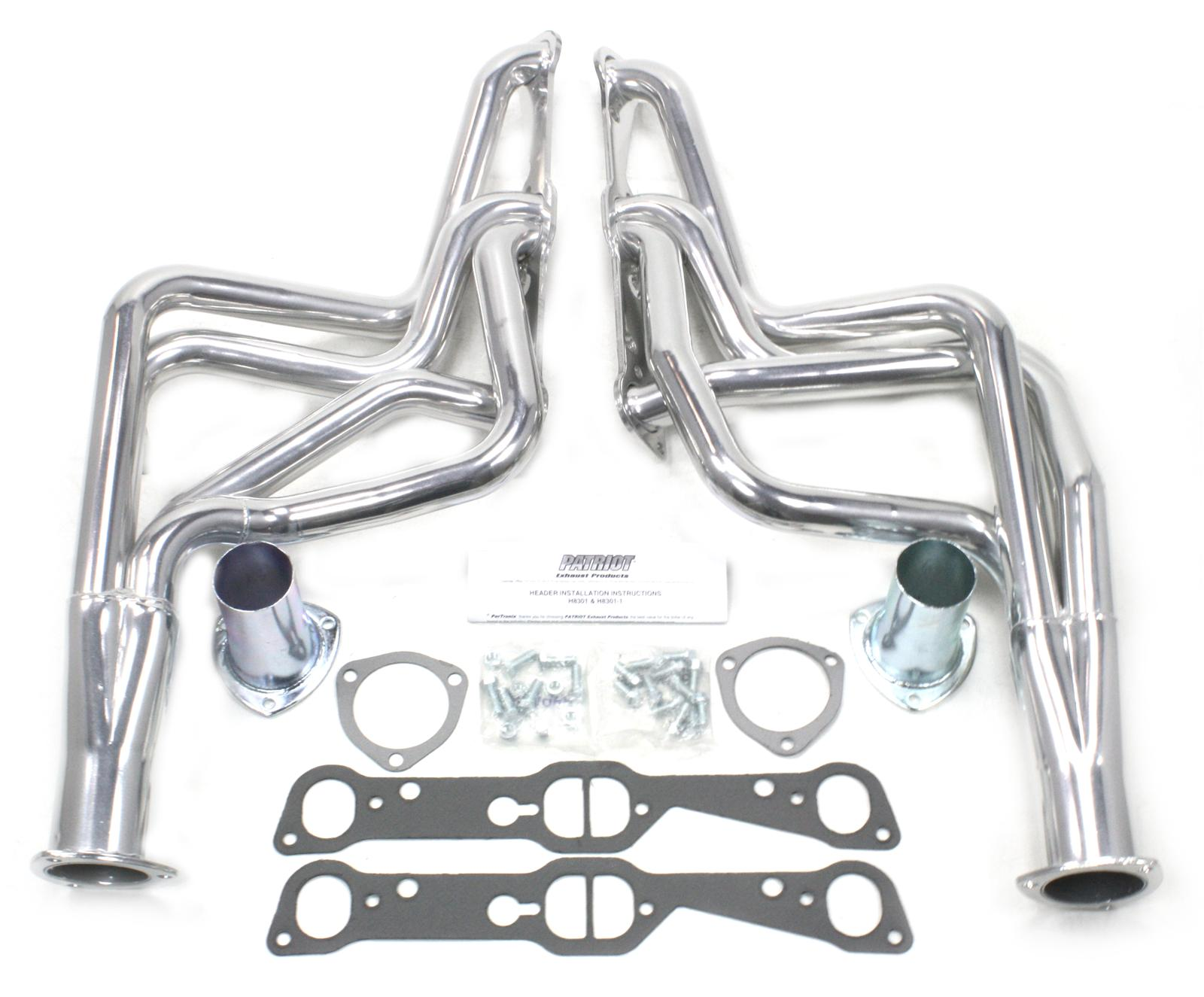 Patriot Full Length Headers Silver Ceramic Coated 1 5 8