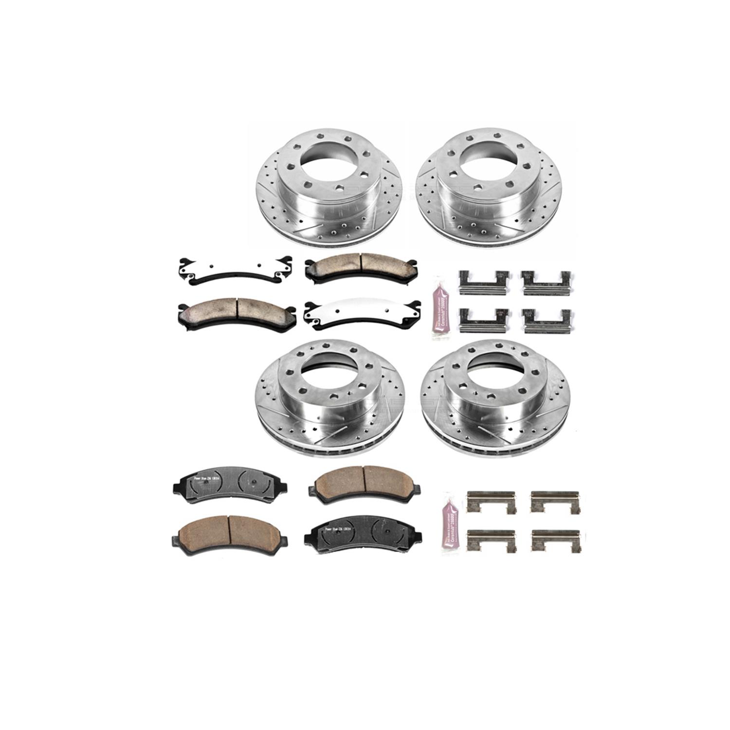 Power Stop 1 Click Extreme Truck And Tow Brake Kit K