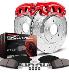 power stop z23 evolution sport brake upgrade kits with calipers kc5247 free shipping on orders over 99 at summit racing [ 1600 x 1600 Pixel ]