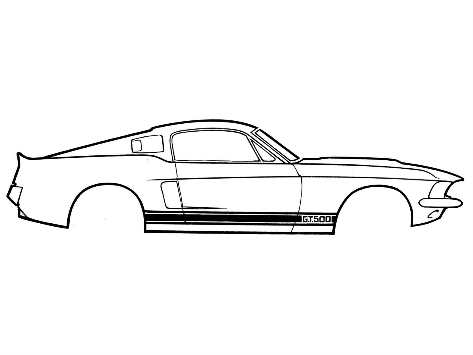 Scott Drake Body Graphics Shelby Gt 350 Stripes Vinyl