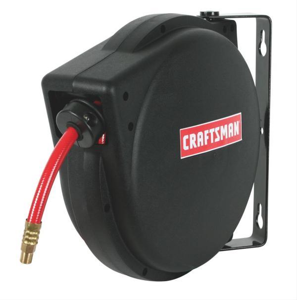 Craftsman 916349 Air Hose Reel Retractable 30 Ft. Length 900 Psi. Maximum Kit