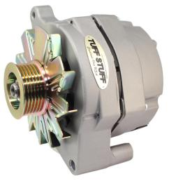 tuff stuff performance high amp output factory cast plus alternators 70686g free shipping on orders over 99 at summit racing [ 1561 x 1600 Pixel ]