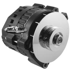 tuff stuff performance kool charger stealth black alternators 7860g free shipping on orders over 99 at summit racing [ 1600 x 1555 Pixel ]