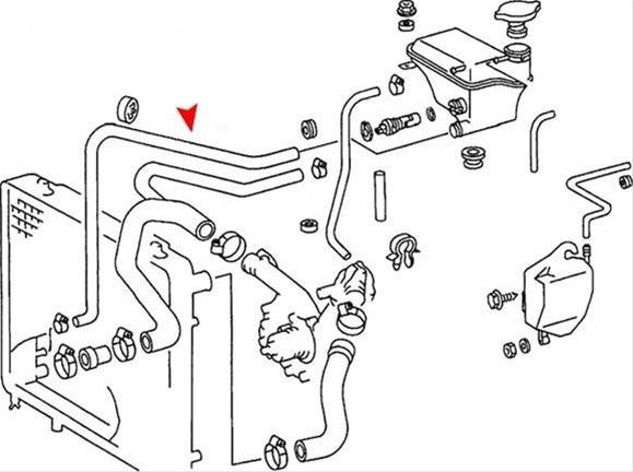 URO Parts Coolant Recovery and Expansion Tank Hoses 124
