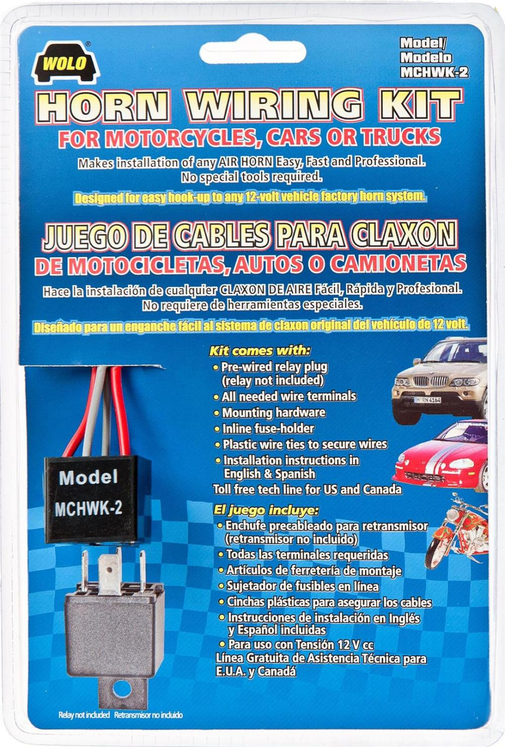 medium resolution of wolo horn wiring harnesses mchwk 2 free shipping on orders over 99 at summit racing