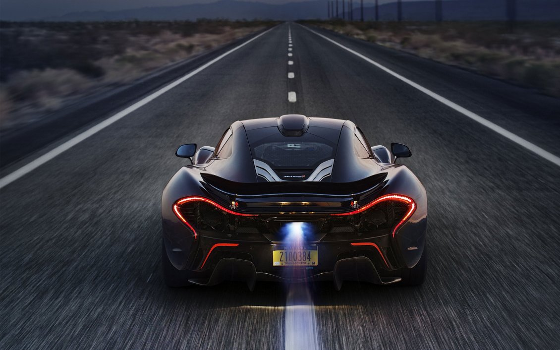 Anime Girls With Motorcycle Wallpaper Mclaren P1 Flame On Exhaust Hd