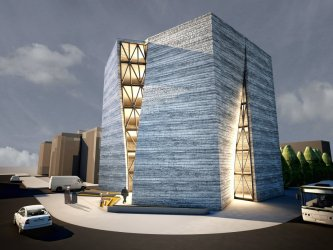 architecture building construction organization studio engineering modern central qom iranian archdaily buildings courtesy resolution mehdi arquitectura rate designs leerlo project
