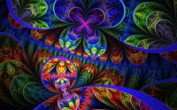 Colorful fractal flowers - Design wallpaper
