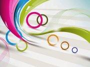 circles and lines - hd vector