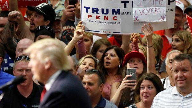 Trump obtuvo la mayoría del voto blanco en todo el país.