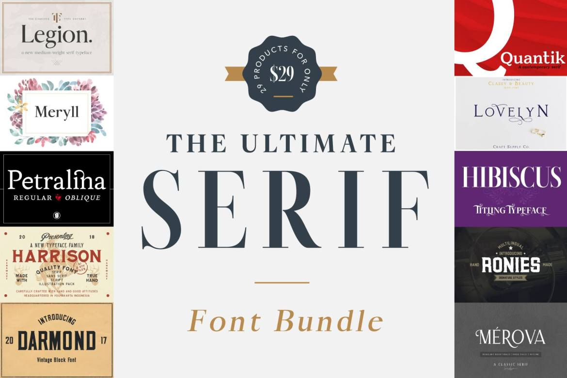 PixelSurplus Ultimate Serif Font Bundle