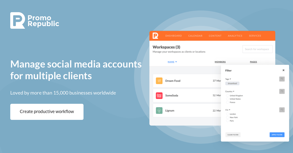PromoRepublic review: automate social media marketing for your brand