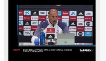 Zidane appelle à éviter au maximum Marine Le Pen et le Front National