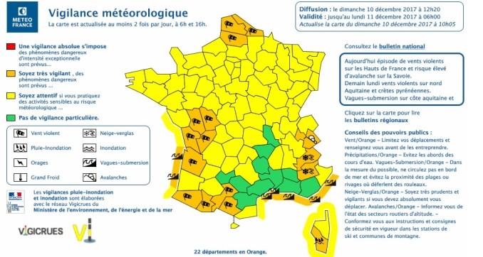 Vents violents Haute Garonne Hautes Pyrénées