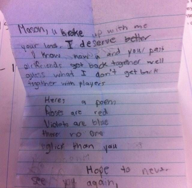 15 Impossibly Adorable Breakup Letters From Little Kids | TheDailyBuzz