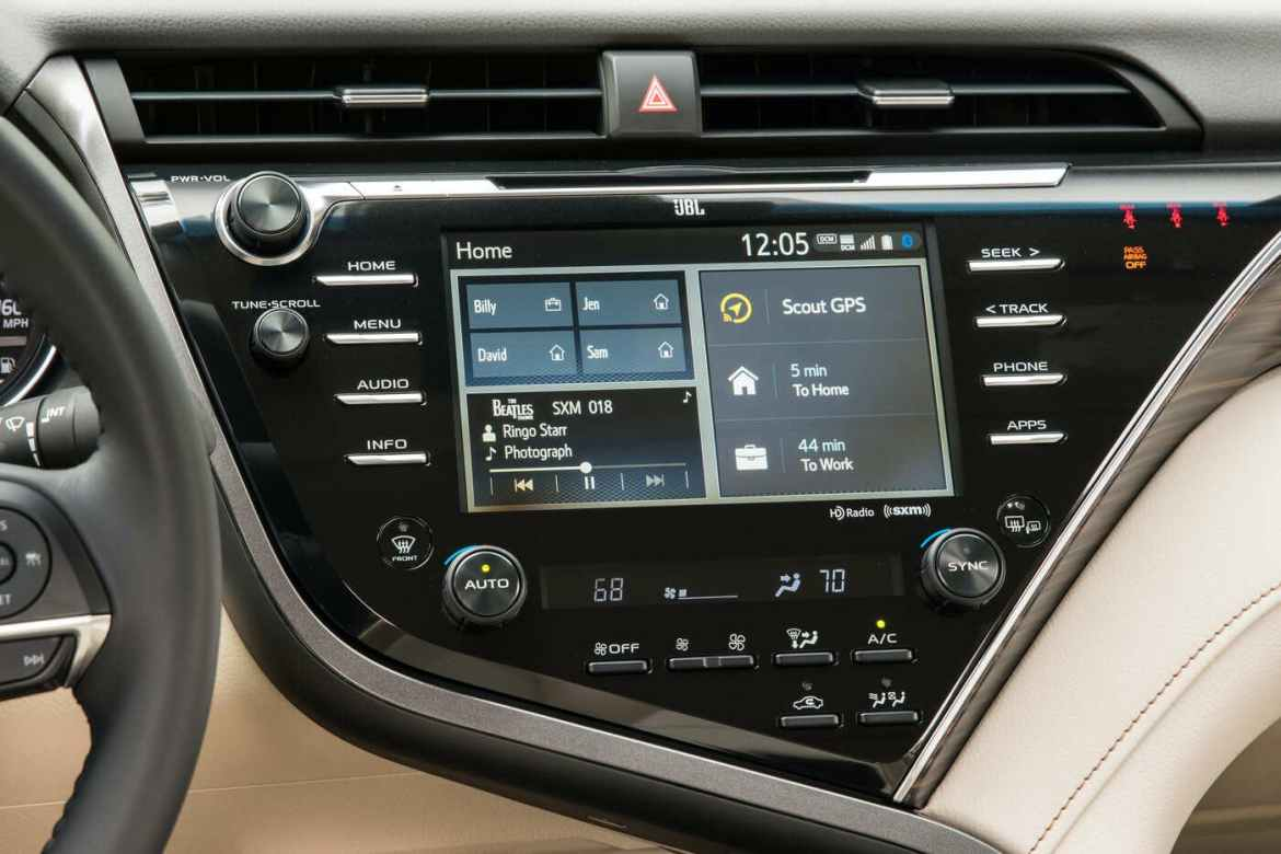 Image result for toyota camry 2020 infotainment screen