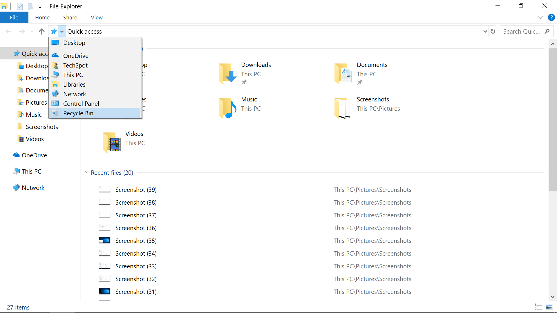 Where is the Windows 10 Recycle Bin? Removing it from the