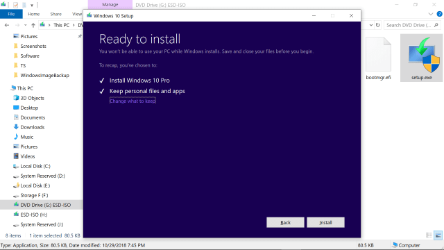 Reinstall Windows 19 Without Deleting Your Software, Files or