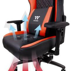Gaming Chairs Plastic Deck Thermaltake S New Chair Cools Your Butt With Four Built In If Like Me Is Welded To For Over 12 Hours Almost Every Day Of The Week You May Find Derriere Can Become Pretty Toasty