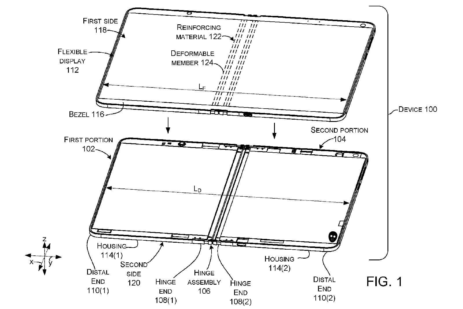 Microsoft patent describes a folding-screen device with a