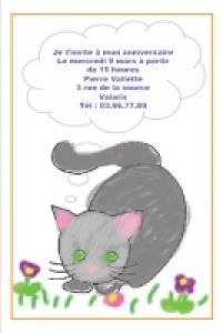 carte anniversaire invitation d