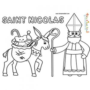 dessin à imprimer: Dessin Imprimer Saint Nicolas
